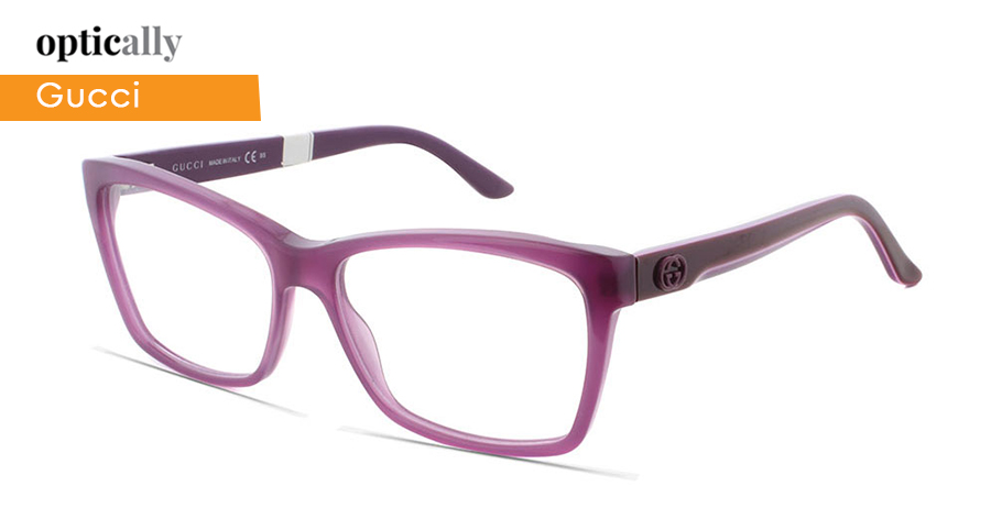 d837dc6fa357 Lavender eyeglasses frames from Gucci glasses collection. This Cateye  inspired design is perfect for the modern women of today. Bold